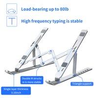 1 unids portátil portátil soporte plegable ergonómico portátiles portátiles para macbook portátil tablet tablet pc riser