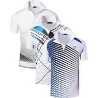 Jeansian 3 Pacote dos homens do esporte dos homens camisas polo polosos poloshirts Tênis de golfe Badminton Seco Fit de manga curta LSL195 Packg