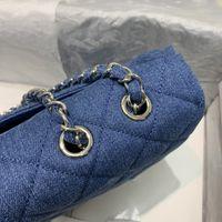 Джинсовая ткань трудно прийти по свободной версии ромбовых швов с повседневным ощущением AS2072, сумка имеет очень легкий вес и большие сумки емкости