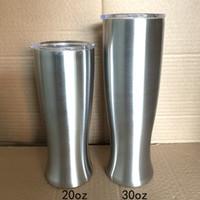 Bira Mug Şişe Şarap Tumbler Vazo Şekli Kupa 20oz / 600ml 30oz / 900ml 304 Paslanmaz Çelik Euro Stil Vakum İzoleli Moda Cam