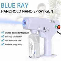 2020 Nieuwe hete Handheld Elektrische Haar Nano Spray Gun Blue Ray Desinfectant Sterilisator 1200W Big Power Huishoudelijke schoonmaakgereedschap