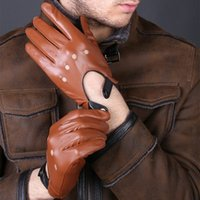 قفازات جلد طبيعي اسود براون قفازات الشتاء أزياء الخريف الرجال النساء تنفس القيادة الرياضية القفازات عن ذكر أنثى 201021