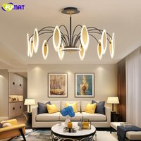 oturma odası yatak odası tavan chandeleirs kapalı aydınlatma süspansiyon lambaları için FUMAT Modern led avize aydınlatma