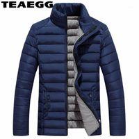Erkek Trençkotlar Teaegg Mavi Artı Boyutu 5XL Siyah erkek Kış Ceketler Jaqueta Masculino Kalın Pamuk Ceket Erkek Ceket Chaquetas Hombre