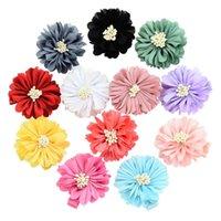 Yapay İpek Şakayık Çiçekler Kız Kafa Çiçek Kızın Saç Aksesuarları Headdress Kumaş Bez Çiçek Ev Dekorasyon ZYY 514