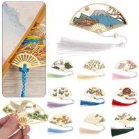 1 ADET Retro Çin Katlanır Fan Tasarım Pirinç Bookmark Püsgeled Oyulmuş Kitap Klip Pagination Mark Kırtasiye Okul Ofis Arzı