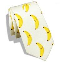 Hawson Krawatten für Männer Obst Muster Banane Cartoon Herren Slim Skinny Tie Casual Kleid, Herren Geschenk, Geschenk für Boyfriend1