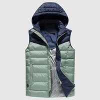 رجال الشتاء التدفئة الكهربائية الصدرية USB شحن الربط مقنع جيب السوستة الدافئة الحرارية عارضة صدرية خارجية