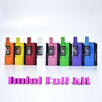 100% Auténtico V1 Imini Box Mod Starter Kits de cigarrillos electrónicos 500mAh Batería de vaporizador de aceite grueso con 0.5ml 1.0ml Libery V1 Cartucho DHL