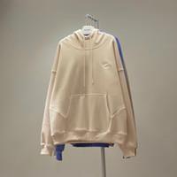 21FW 새로운 최고 품질의 힙합 양면 양면 양면 양면 양면 양면 스카프 남성 여성 풀오버 후드 티 스웨터