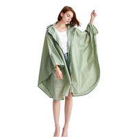 Yuding impermeable grande moda damas para hombre cremallera larga cremallera nylon raincape mujeres con capucha con capucha transpirable bicicleta jldah