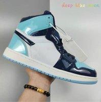 Классические мужские женщины, повседневные 1s Обувь Мода Высокая топ из искусственной кожи Открытый унисекс скейтборд кроссовки 36-44 H5358