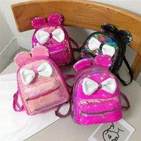 2020 NOUVEAU NOUVELLES BABY FILLES BLING RUCKSACK1 paillettes paillettes Petite sac à dos pour enfants Mini Bowknot Bowdler Sac Scolaire Vrnqk