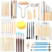 61 pz strumenti di argilla in ceramica set polimero strumenti di argilla strumenti di ceramica set ceramica in legno scolpibile strumento di pulizia dell'argilla set artigianato strumento scultura