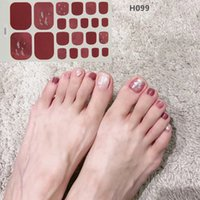 22 consejos del brillo de las lentejuelas en polvo serie de moda de uñas del dedo del pie etiquetas engomadas del arte Colección de manicura DIY Nail Polish Strips Envolturas para Party Decor