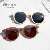 CAPONI 빈티지 선글라스 여성 2020 새로운 안경 레트로 원형 편광 키즈 태양 안경 레이 컷 브랜드 디자이너 여성 선글라스