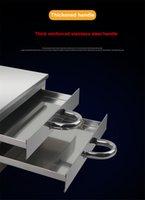 FreeShippingHousehold 2 couche de riz en acier inoxydable Rouleau de nouilles Petit Pain Cuites à vapeur machine vermicelle Rouleau Etuve Four poêles électriques /