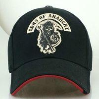 Anarşi Nakış Yama Reaper Mürettebat Siperlik SAMCRO Man Beyzbol şapkası Punk Siyah Motosiklet CapsX1016 Sıcak Satış theTV Sons