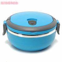 Xinchen inoxidável térmico isolado recipiente de alimentos térmicos Bento almoço redondo 1 camada 201015