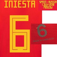 2018 Farewell Iniesta Match Worn Player Issue With Match Details Cusomize Any Name Number Soccer Nameset Patch