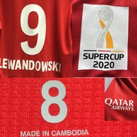 2020 Super Cup Final Lewandowski Jogar Jogador Desgastado Edição Muller Kimmich Gnabry Goretzka com Details Detalhes Futebol Patch Badge