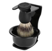Men Chaving Set Soap + Brach + Brush + Подставка Держатель Натуральный кабан Освещатель Beard Kit Kit Kit Чистый Bardger Бритвенные щетки Комплект