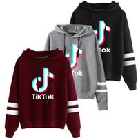 Tiktok Блуза для женщин девушки Одежда Tik Tok осень-зима капюшоном Письмо толстовки Спорт свитер Одежда Плюс Размер