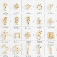 محفظة 5pcs عالية الجودة مفتاح جديد النجمة الخماسية خاتم الماس مجموعة متنوعة من الأساليب من اللوازم مسمار سبيكة الراين 3D سحر DIY
