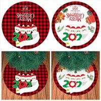 90CM شجرة عيد الميلاد تنورة السنة الجديدة شخصية على قيد الحياة نمط الأسرة شجرة عيد الميلاد الديكور أسفل وسادة هدايا DDA670