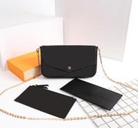 حقيبة يد مصممين حقيبة يد امرأة الأزياء حقيبة crossbody حقائب الكتف متعددة pochette فيليسي سلسلة حقيبة محفظة مع مربع حقيبة الغبار