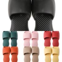 TAV Paris Moda Yaz Erkek Bayan Kaydırıcılar Loafer'lar Plaj Terlik Bayanlar Çevirme Slaytlar Siyah PVC Dener Terlik Beyaz Pembe Sandalet