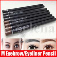 Trucco M occhio rotante retrattile caffè nero Eyeliner Pencil impermeabile sopracciglio matita eyeliner cosmetici Strumenti 2 colori