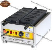 Ücretsiz kargo ticari kullanım yapışmaz 110 v 220 V elektrikli vulva şeklindeki waffle fırıncı vajina penis waffle makinesi makinesi