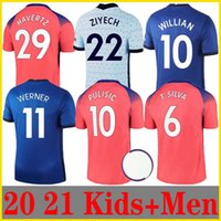 20 21 Jerseys de fútbol Abraham Werner Havertz Chilwell Ziyech Lampard Football Shirt Pulisic Camiseta Kante Mount 2020 2021 Men + Kids Kit Se