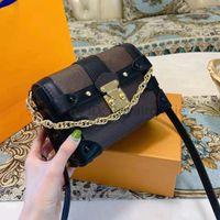 Luxus Designer Tasche Mode L Damen Flap Perle Crossbody 2021 Neue Leinwand Gedruckte Handtasche Damenketten Umhängetasche Geldbörse Mini Trunk Taschen