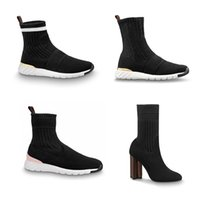 Designer Sneaker Bounds Bottines Sneaker Bottes Femmes Chaussettes Ankle Martin Bottes Chaussures Stretch Heel Silhouette Chaussures Bottines Chaussures d'hiver