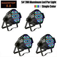 4pcs / Lot 54X3W llevó la luz de la igualdad solo color RGBW LED PAR64 luz de control 4 / 8DMX Canales, DMX Par Luz de escenario Equipo DJ 90V-240V