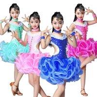 Yeni Salsa Latin Dans Elbise Kız Çocuklar Için Balo Salonu Latin Dans Yarışması Elbiseler Kostüm Kızlar1