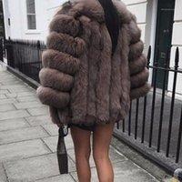 Damen Pelz Faux Plus Größe 5XL Frauen Mantel Winter Warme Plüsch Luxus Weiche Jacke Hohe Qualität Dicke Teddy Jacke1