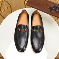 أحدث البغال الرجال جلد طبيعي الأحذية المعدنية سلسلة princetown عارضة الأحذية حفل زفاف المتسكعون جلدية مصمم شنت أحذية حجم 38-44