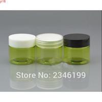25g 25ml 30g 30 ml Yeşil Göl Mavi Pet Vücut Siyah Beyaz Şeffaf Plastik Kapak Krem Kavanoz 30 adet / lotgoods