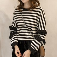 Stripe Women' s Sweater Autumn New Style Korean Splicing...