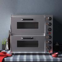 2000 W Forno elettrico Pizza Ali di pollo Doppio forno 2-livello 2-vassoio Cuocere a grande capacità Commercial Forno commerciale Elettrodomestici