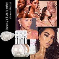 Face Body Glitter Highlighter Loose Powder Pulvérisateur de pulvérisation longue durée de la durée de vue de la lunette de glow