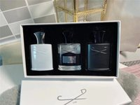 Moda homens fragrâncias definir 3 pçs / set intenso perfume fragrante prata montanha / aventus / verde irlandês 30ml * 3 frete grátis