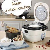 طباخ الأرز الكهربائي المنزل الذكي 2.5L سعة كبيرة عنبر 2 أوتوماتيكي طباخ الأرز حساء عصيدة عصيدة الزبادي