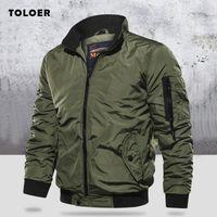 Giacca militare degli uomini sottili Bomber aurumn inverno degli uomini di abbigliamento casual a maniche lunghe Jackes e cappotti Uomo Abbigliamento Plus Size 201110