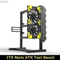 ITX MATX ATX Refroidissement de l'eau Banc d'essai de la carte mère Open Cadre de l'air Open Cas d'ordinateur Support d'aluminium BIY NARE Cadre Support graphique