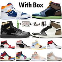 2020 Nova Chegada Jumpman 1 1S Mens Basquetebol Sapatos Alto OG Dio UNC Tie-Dye Digital Cor-de-rosa Snake Chicago Mulheres Esportes Sneakers Treinadores Mens