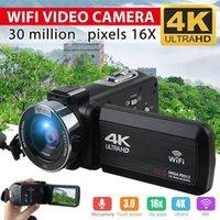 Caméra vidéo 4K Ultra HD 30MP WIFI DV caméscope numérique caméra vidéo 270 degrés rotation écran tactile 16x zoom numérique1